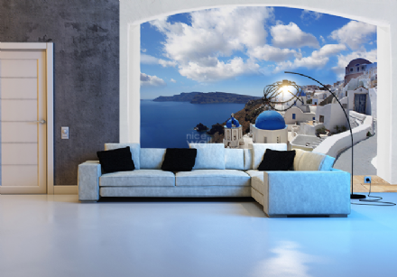 Santorini Greece coast giant wall mural decor